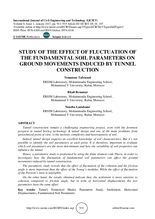 PDF) STUDY OF THE EFFECT THE FUNDAMENTAL SOIL GROUND