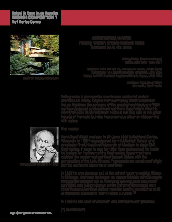 PDF) Falling Water | Abu Imran - Academia edu