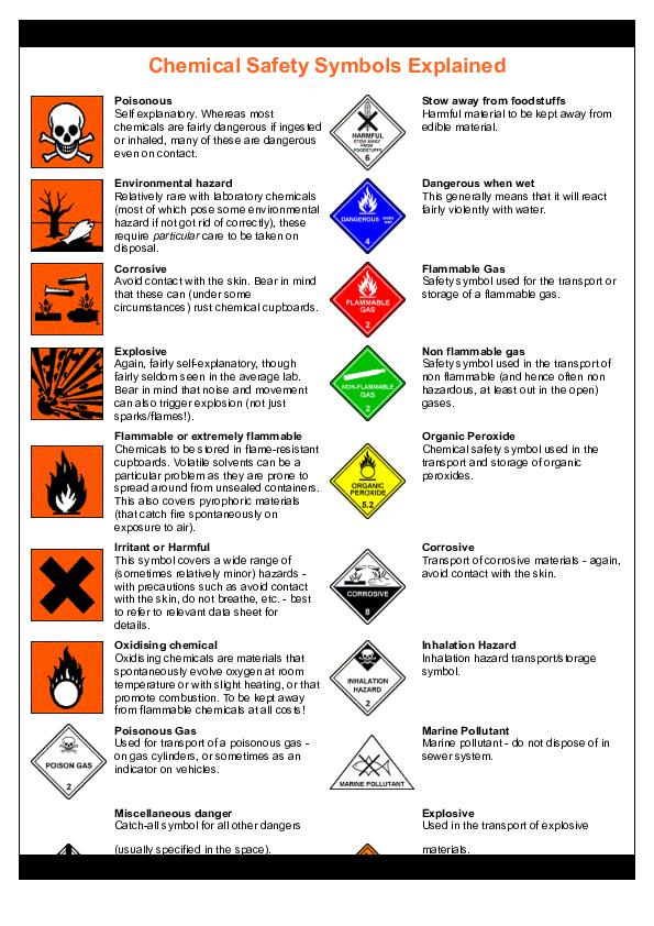 (PDF) Chemical Safety Symbols Explained   John J ...