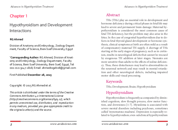 PDF) Advances in Hypothyroidism Treatment Advances in