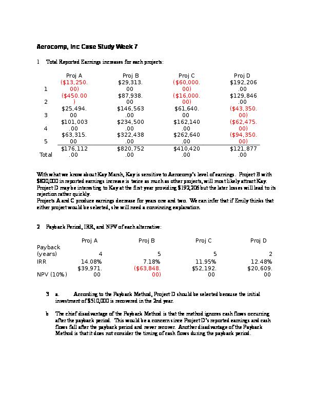 case study aerocomp
