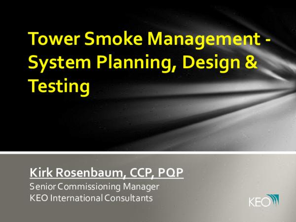 Pdf Tower Smoke Management System Planning Design Testing Ivan Glisic Academia Edu
