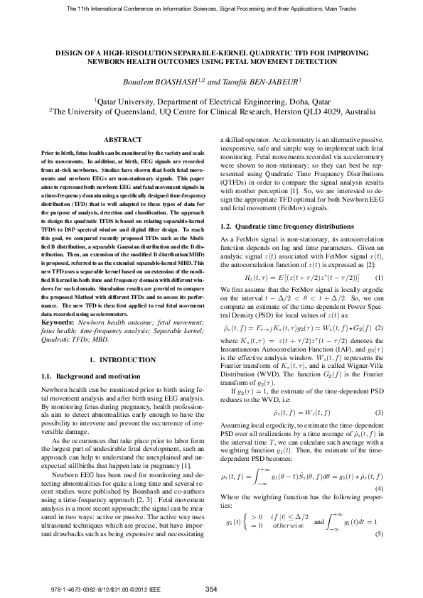 PDF) Design of a high-resolution separable-kernel quadratic