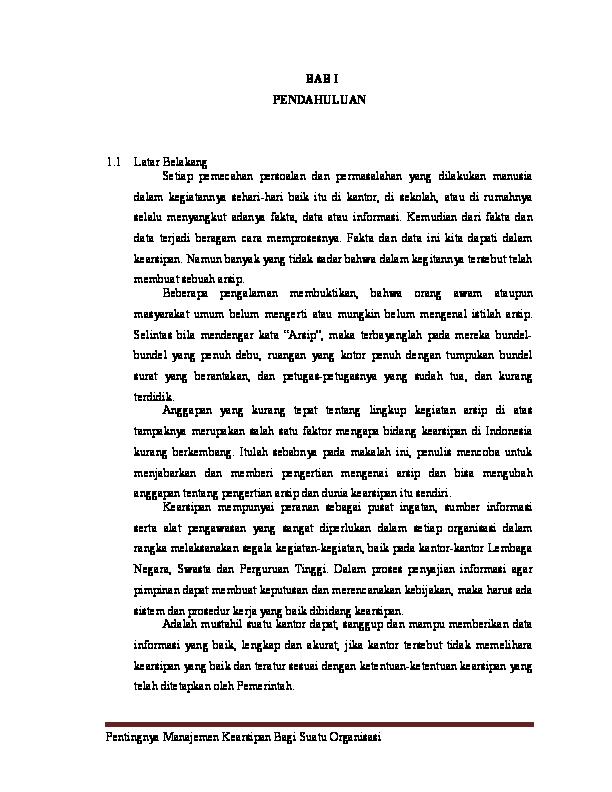 Doc Makalah Manajemen Kearsipan Untuk Uas Rima Nuryani Academia Edu