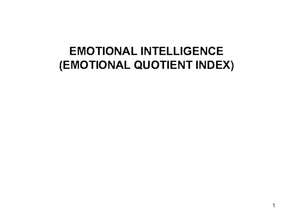 PPT) Emotional intelligence | Syed Faraz - Academia edu
