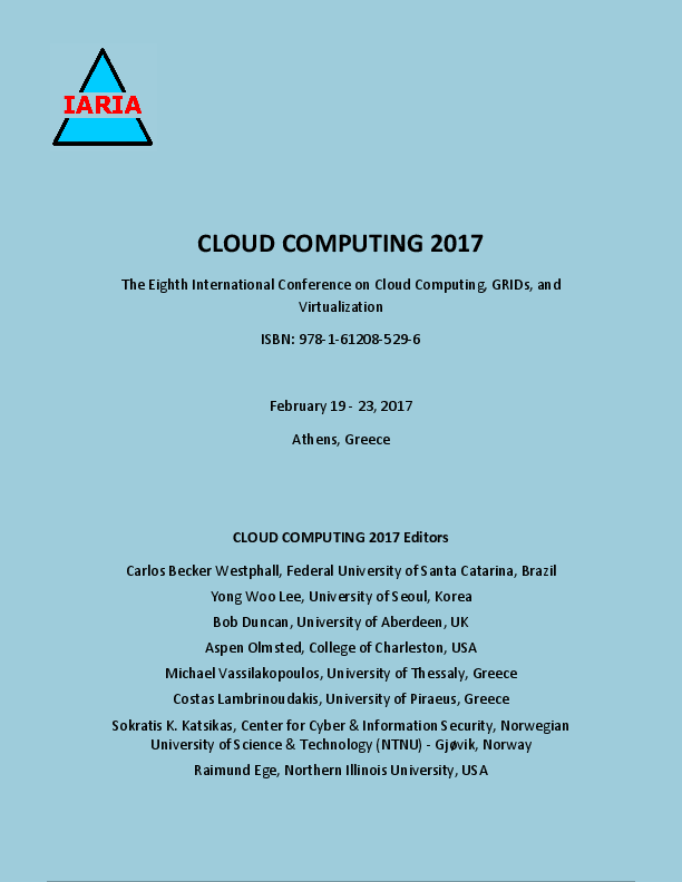 PDF) CLOUD COMPUTING 2017 Athens, Greece CLOUD COMPUTING 2017