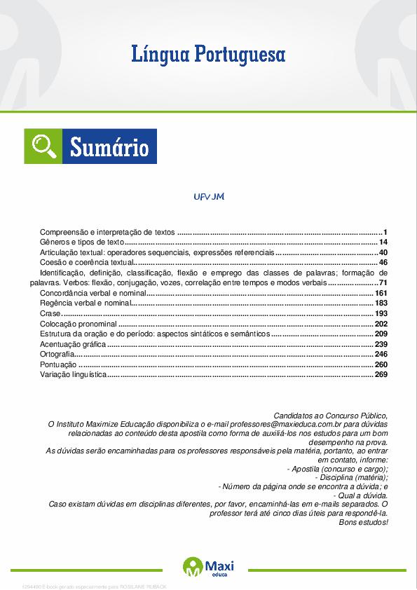 Lingua Portuguesa Daniele Santos Academiaedu