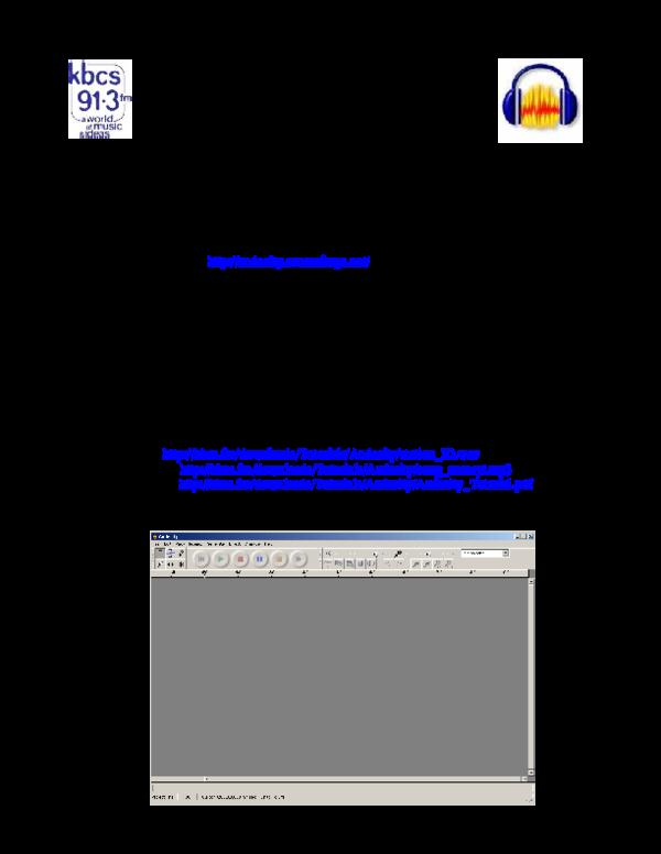 PDF) Using Audacity – A Tutorial | Nursukma Shairra