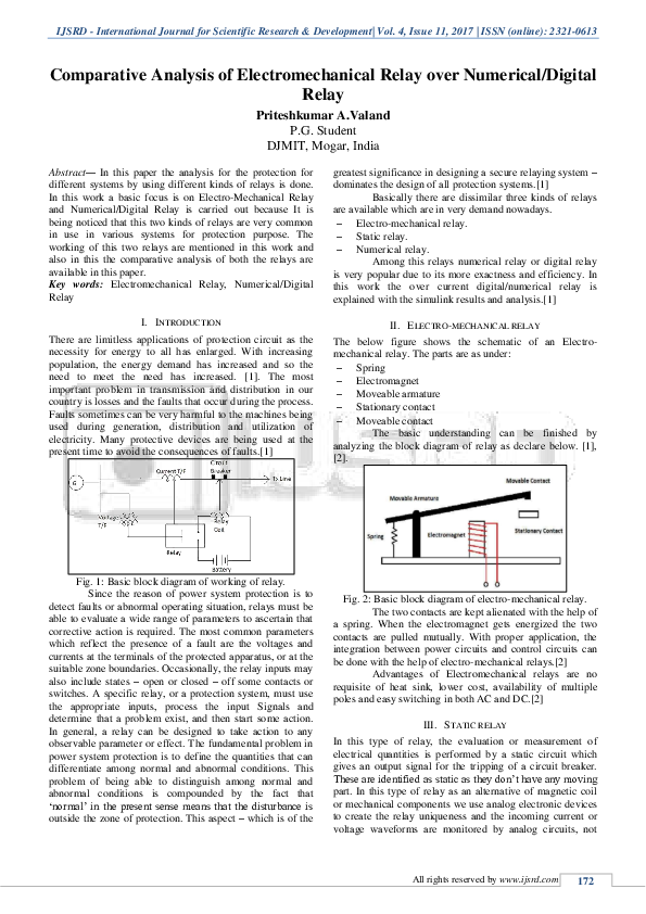 PDF) Comparative Analysis of Electromechanical Relay over