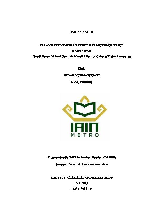 Pdf Tugas Akhir Indah Nurmawigati Indah Nurma Academia Edu