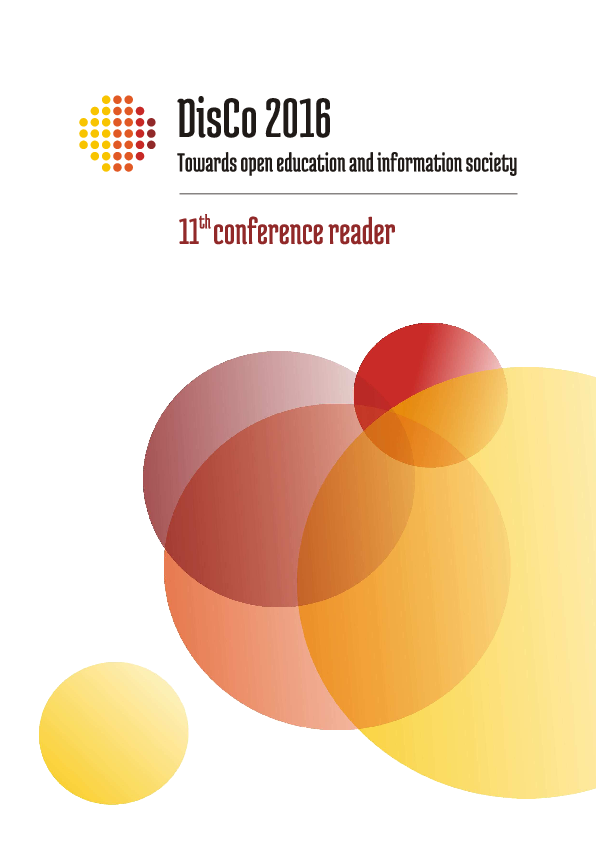 PDF) DisCo 2016 Towards open education and information