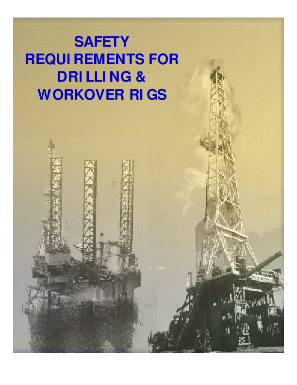 PDF) SAFETY REQUIREMENTS FOR DRILLING & WORKOVER RIGS | Mosa