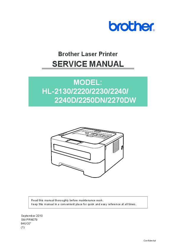 PDF) Brother Laser Printer SERVICE MANUAL | sara diaz - Academia edu