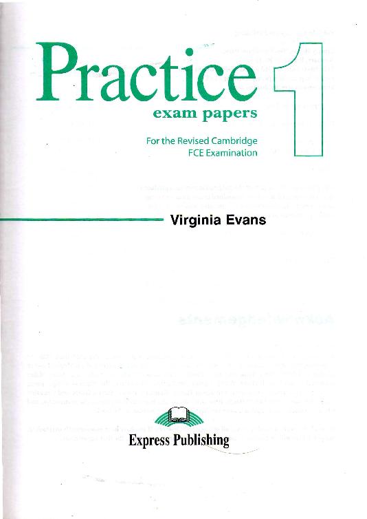 PDF) FCE Practice - Exam Paper 1 Student 39 s Book | Ozan Özyaman