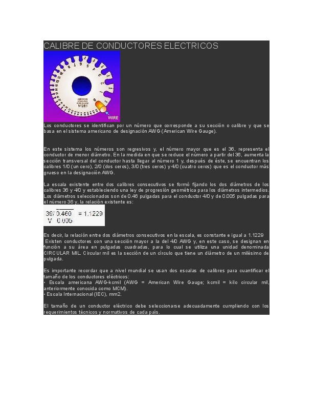 DOC) CALIBRE DE CONDUCTORES ELECTRICOS | manuel alejandro
