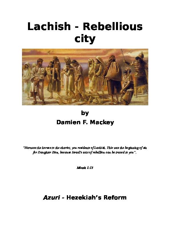 DOC) Lachish - Rebellious city | Damien Mackey - Academia edu