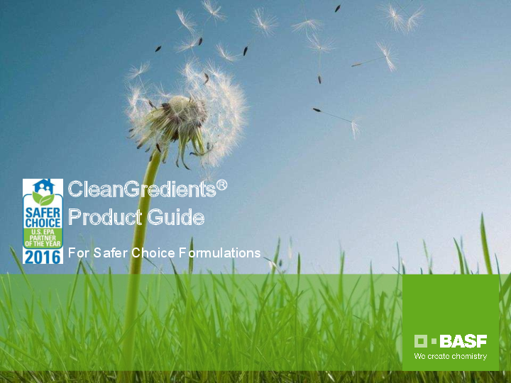 PDF) CleanGredients ® Product Guide For Safer Choice