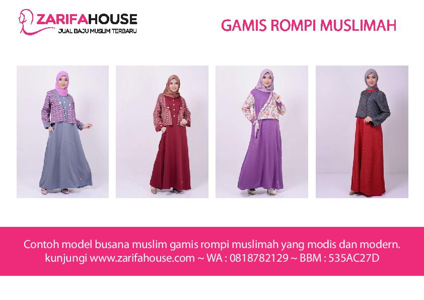 PDF) Contoh Model Gamis Rompi Muslimah Cantik dan Modis