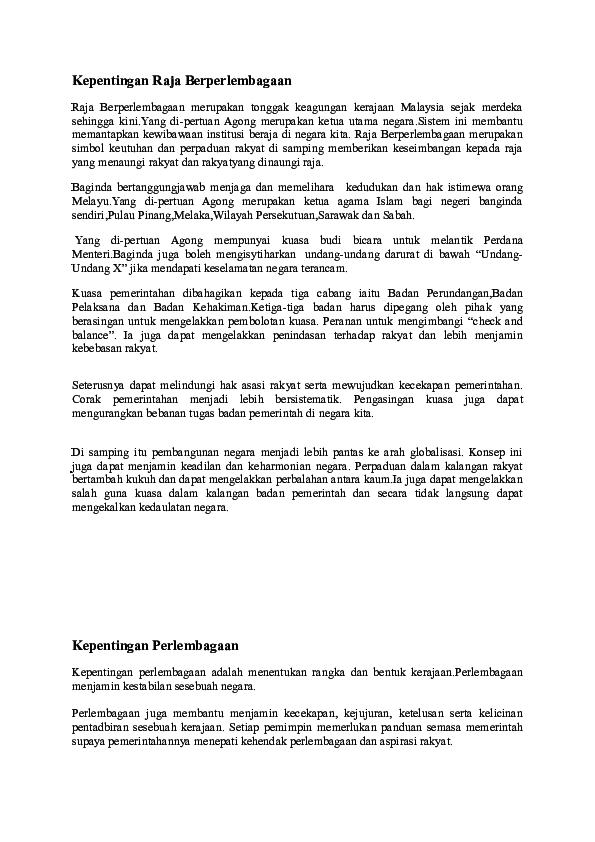 Doc Kepentingan Raja Berperlembagaan Syahmie Mie Academia Edu