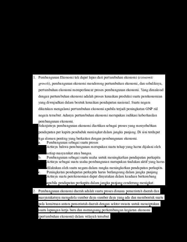 Doc Ekonomi Pembangunan Denis Triana Academia Edu