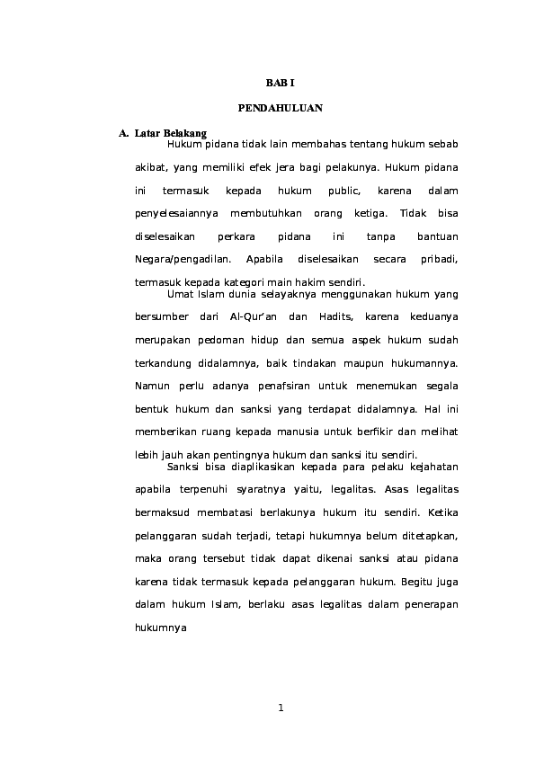 Doc Hukum Pidana Islam Docx Hartik Rahayu Academia Edu