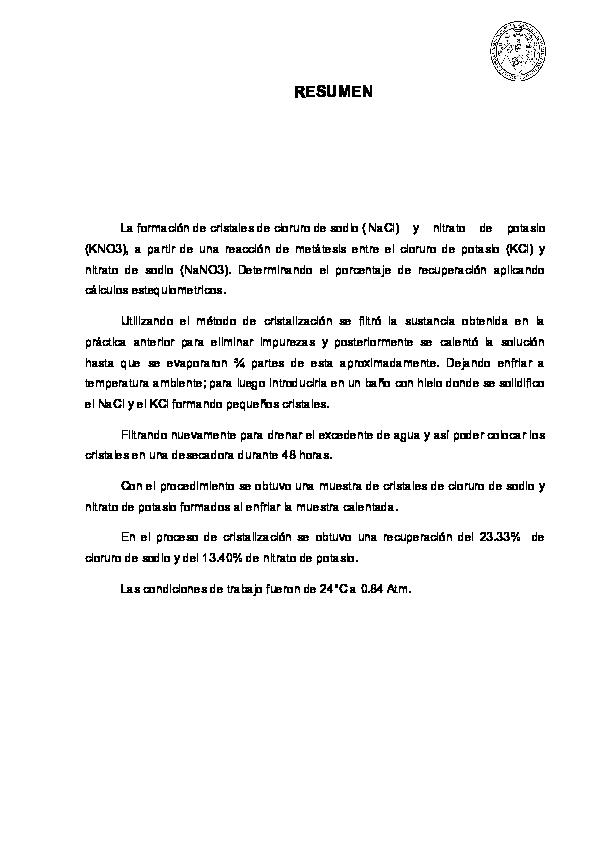 Doc Reporte Cristalizacion Q 4 Docx Xavii Zyan Academia Edu