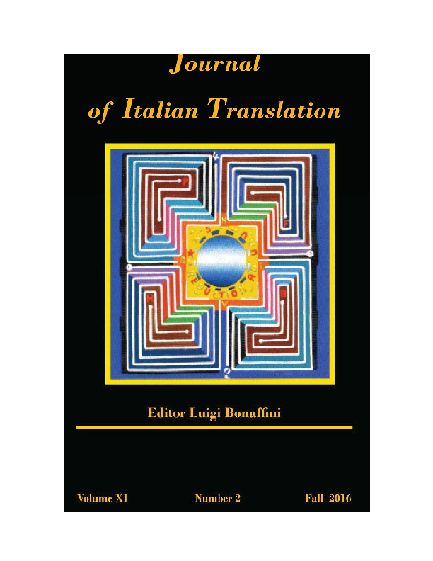 Pdf Journal Of Italian Translation Vol Xi No 2 Fall