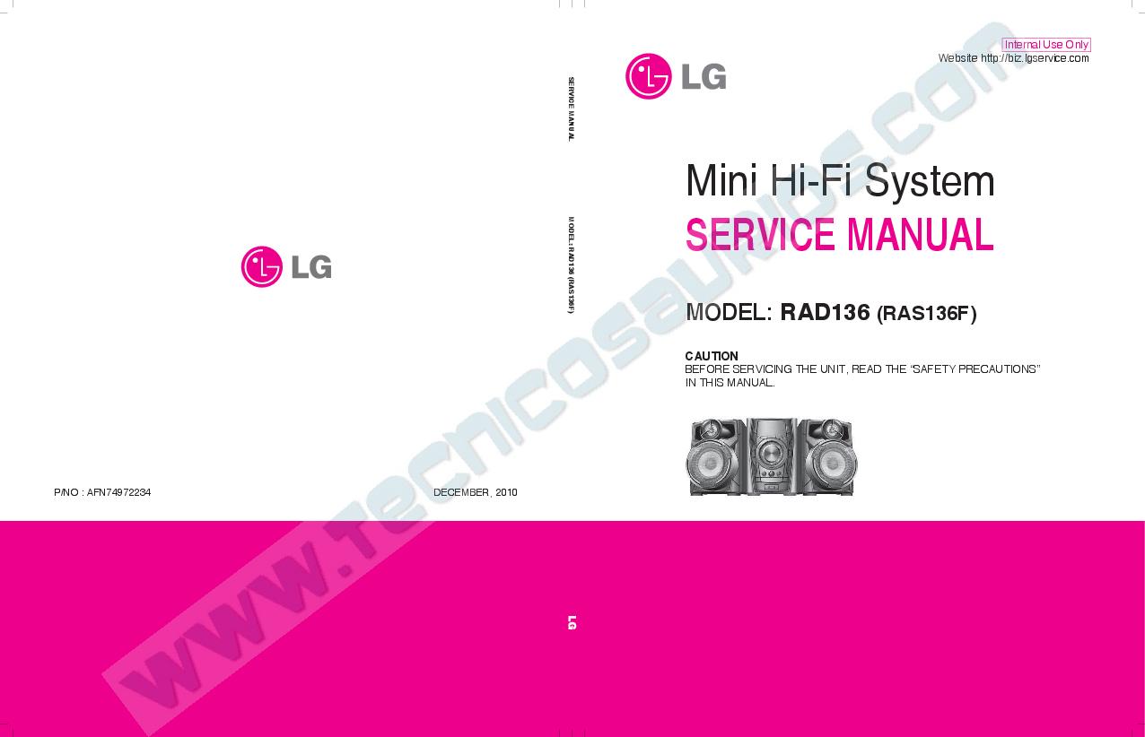PDF) Mini Hi-Fi System SERVICE MANUAL MODEL: RAD136 (RAS136F