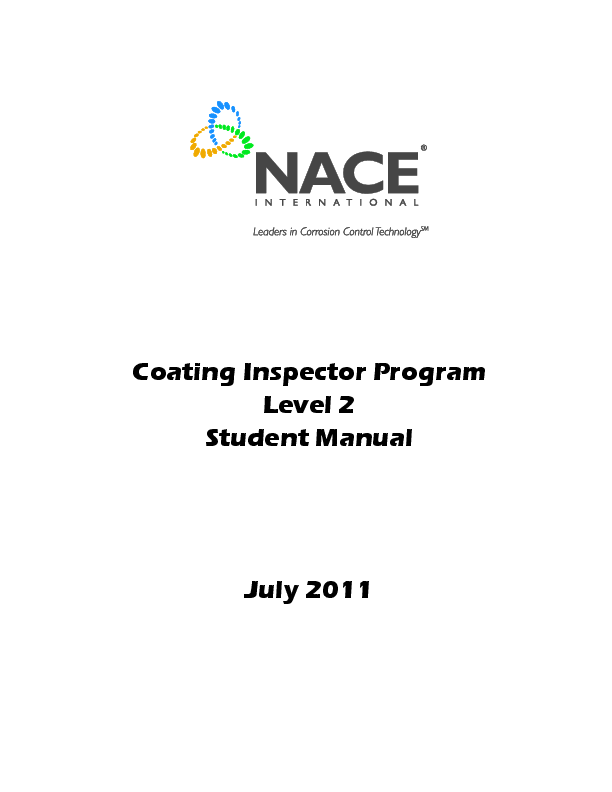 PDF) Coating Inspector Program Level 2 Student Manual
