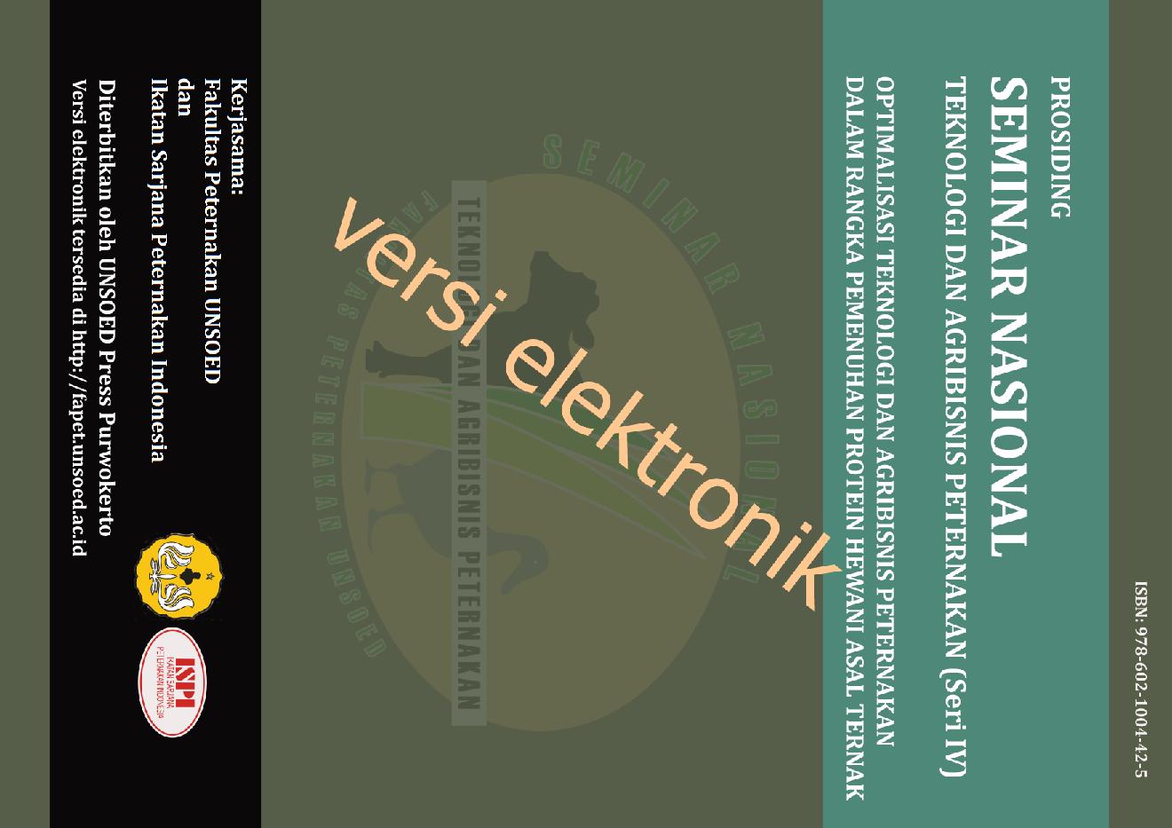 PDF) Seminar Nasional Teknologi dan Agribisnis Peternakan