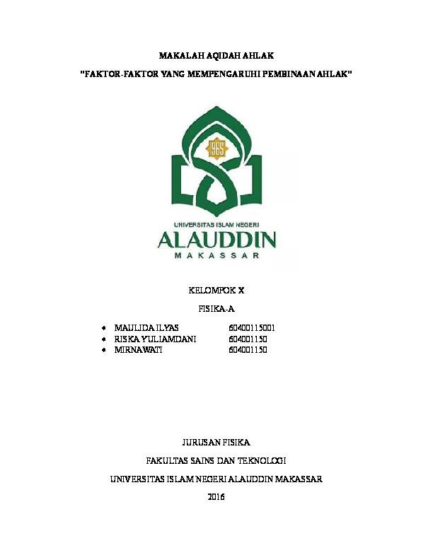Uin Alauddin Makassar Fisika Academia Edu