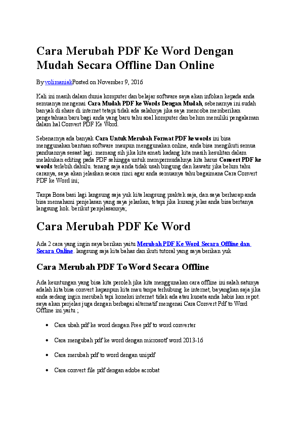 Pdf To Word Offline