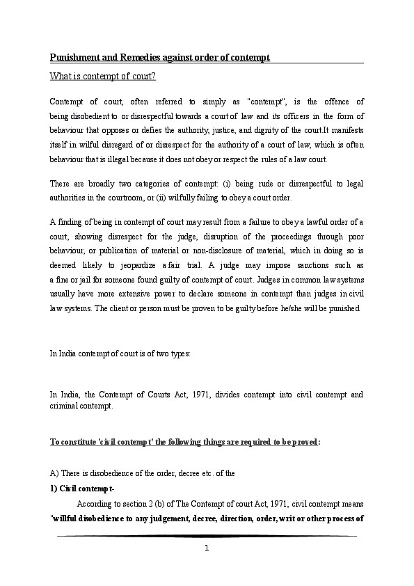 Failure to obey a lawful order essay