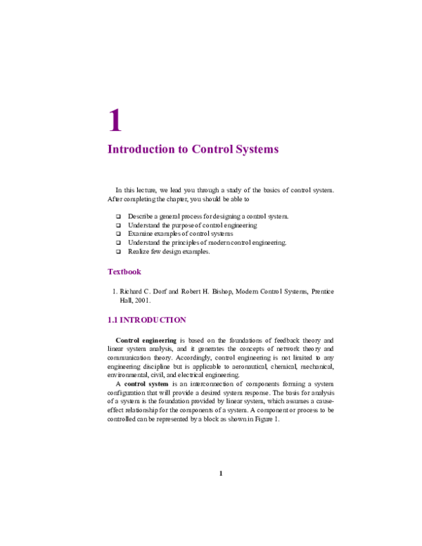 Pdf Introduction To Control Systems Ramhit Yadav Academia Edu