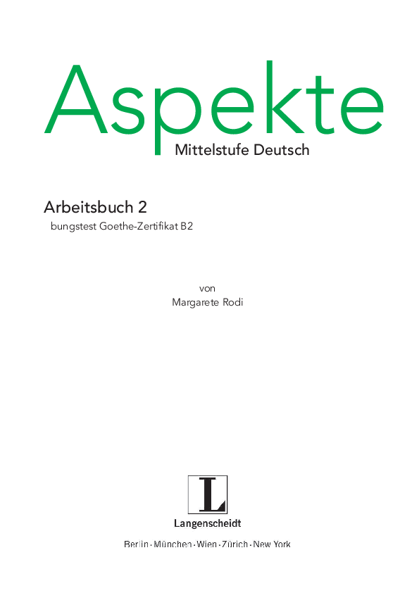 Pdf übungstest Goethe Zertifikat B2 Vik Vik Academiaedu