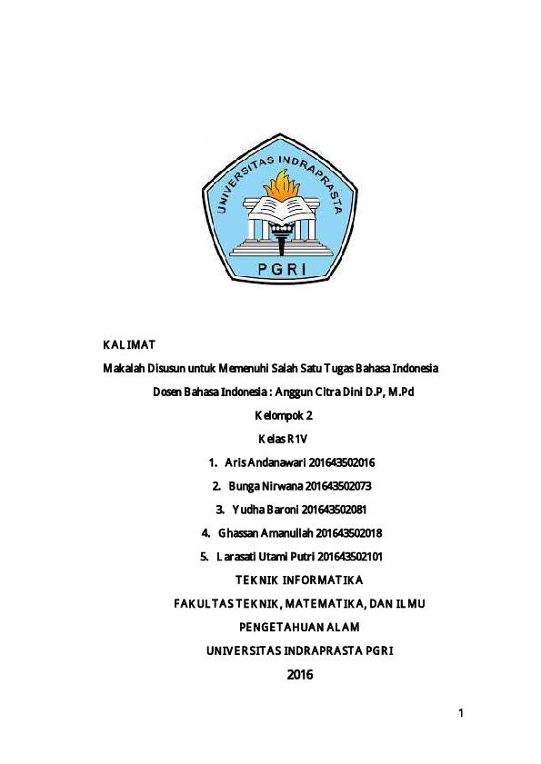 (PDF) MAKALAH KALIMAT | Fichtive man - Academia.edu