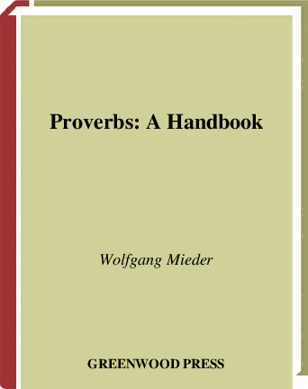 PDF) Proverbs: A Handbook | Asmae Elbouzidi - Academia edu