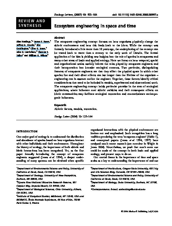 ecosystem engineers pdf