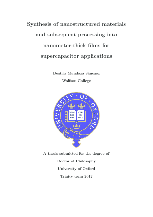Supercapacitor Thesis Pdf