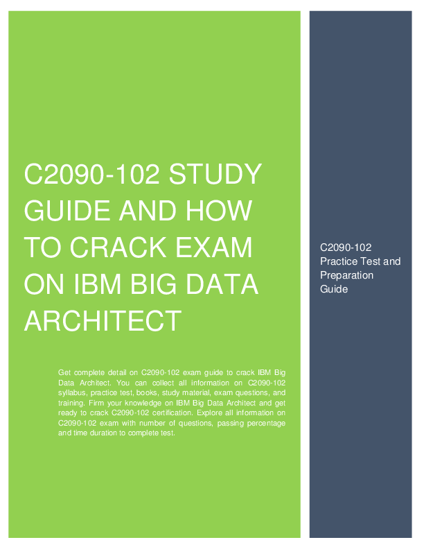 How To Crack Exam On Ibm Big Data Architect C2090 102 Palak