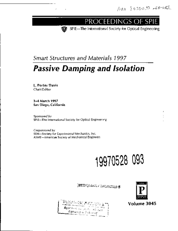PDF) Passive damping of beams with constrained viscoelastic material