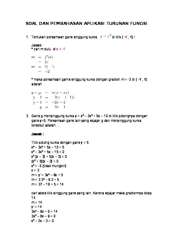 Contoh Soal Limit Fungsi Trigonometri Kelas 12