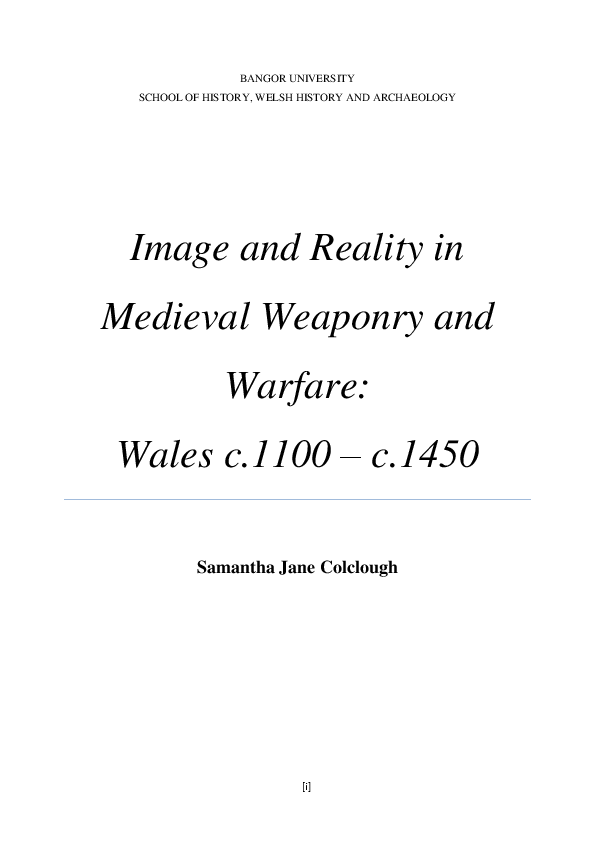 PDF) Image and reality in medieval weaponry and warfare