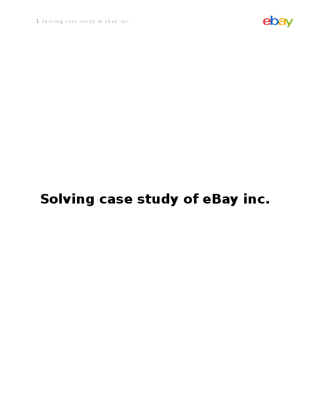 DOC) eBay Case | Mahbub Miyan - Academia edu