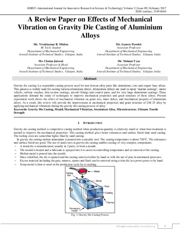 PDF) A Review Paper on Effects of Mechanical Vibration on