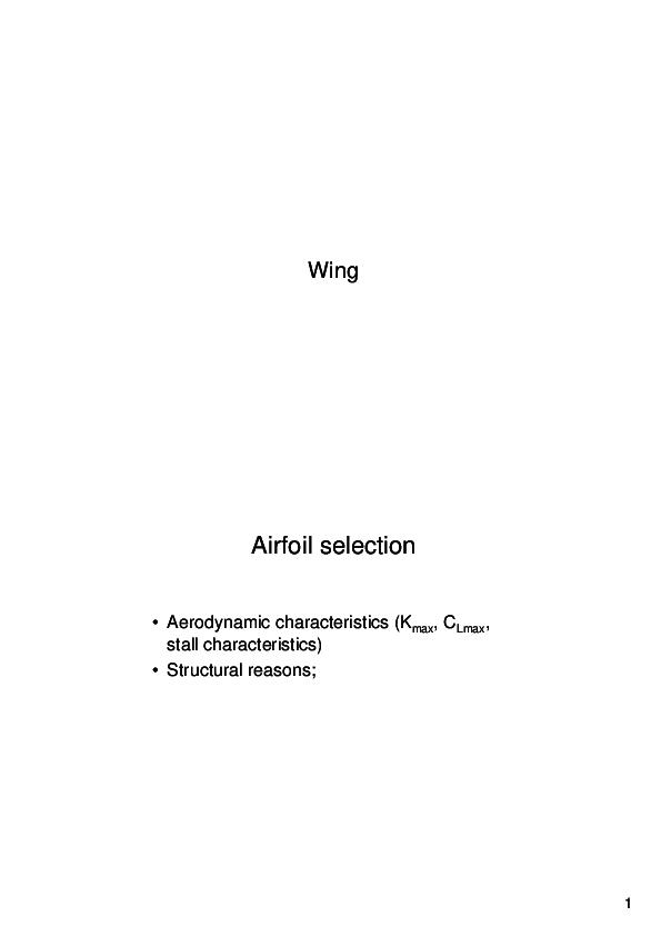PDF) Wing Design | Aadi Ali - Academia edu