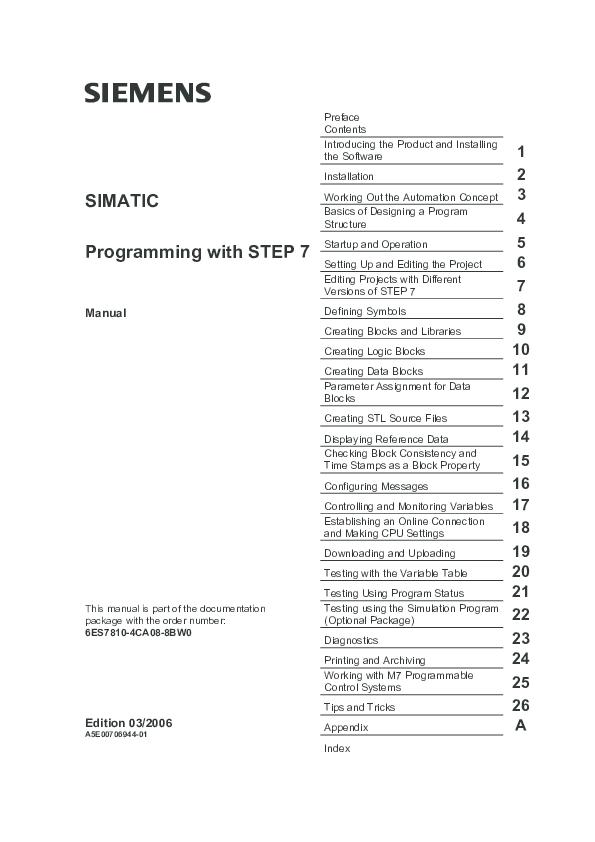 PDF) Programming with STEP 7.pdf | Noval Fernando - Academia.edu