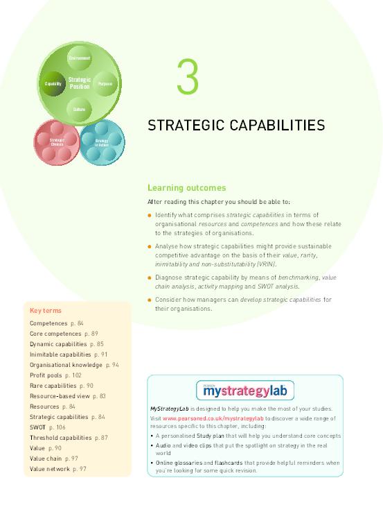 PDF) 3 STRATEGIC CAPABILITIES Learning outcomes   mehwish