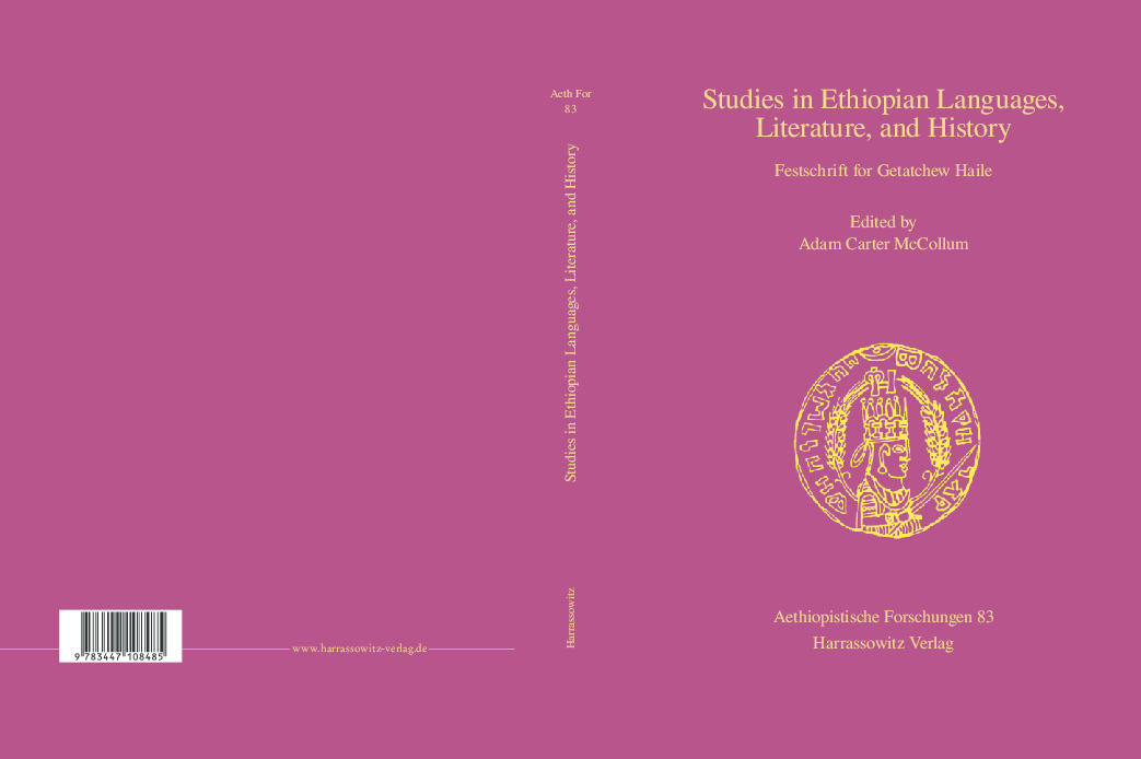PDF) Studies in Ethiopian Languages, Literature, and History