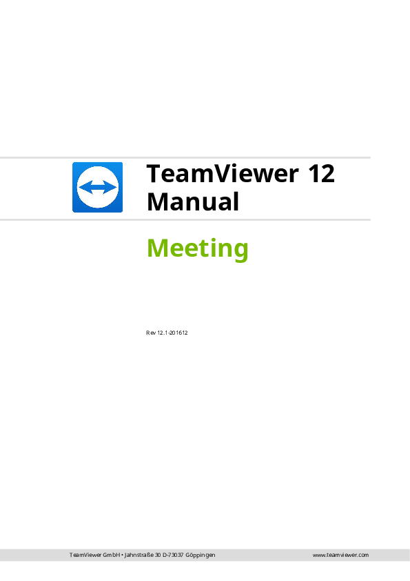 PDF) TeamViewer 12 Manual Meeting Rev 12 1-201612 | Budi